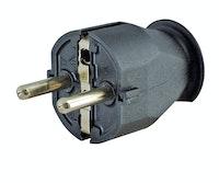 Kopp Kunststoff- Schutzkontakt- Stecker schwarz