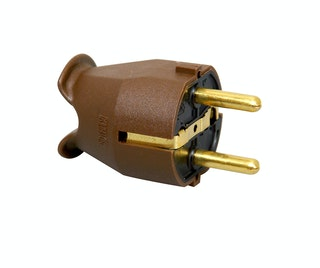 Kopp Kunststoff-Schutzkontakt-Stecker braun