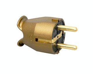 Kopp Kunststoff-Schutzkontakt-Stecker gold