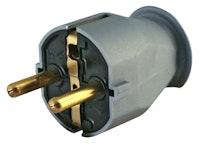 Kopp Kunststoff-Schutzkontakt-Stecker 16A silber