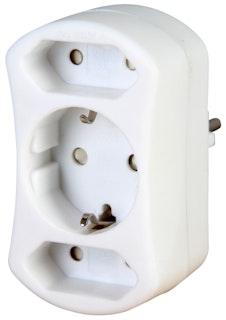 Kopp Europa- und Schutzkontakt-Adapter, arktis-weiß