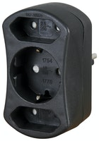 Kopp Europa- und Schutzkontakt- Adapter schwarz
