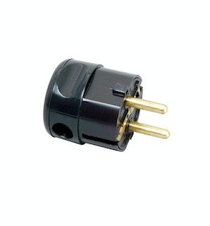 Kopp Kunststoff-Schutzkontakt-Winkelstecker, schwarz