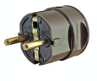 Kopp Kunststoff-Schutzkontakt-Winkelstecker, braun