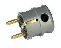 Kopp Kunststoff-Schutzkontakt-Winkelstecker silber