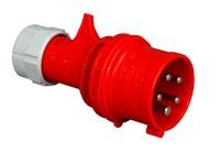 Kopp CEE-Stecker mit Phasenwender, 5-polig, rot