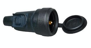 Kopp Schutzkontakt-Gumikupplung mit Steckerverriegelung