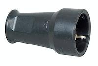 Kopp Gummi-Schutzkontakt-Kupplung mit Knickschutz, schwarz