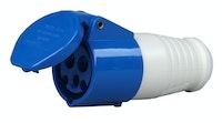 Kopp Caravan-Kupplung mit Klappdeckel, 3-polig blau
