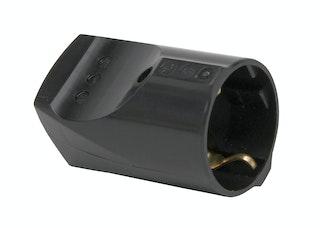 Kopp Kunststoff-Schutzkontakt-Kupplung 16A schwarz
