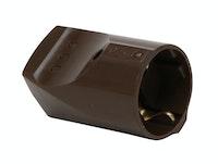 Kopp Kunststoff-Schutzkontakt-Kupplung 16A braun
