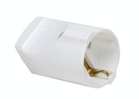 Kopp Kunststoff-Schutzkontakt-Kupplung 16A rein-weiß