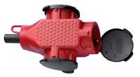 Kopp 3-fach Schutzkontakt-Kunststoffkupplung rot