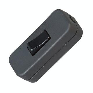 Kopp Schnurzwischenschalter, 1-polig, schwarz