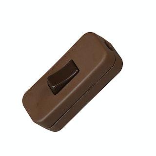 Kopp Schnurzwischenschalter 1-polig, braun
