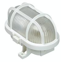 Kopp Ovalarmatur mit Kunststoffkorb 60W weiß