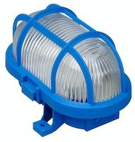 Kopp Ovalarmatur mit Kunststoffkorb 60W blau