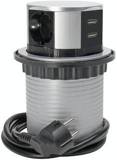 Kopp Steckdosenturm 3-fach silber/schwarz