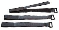 Kopp Klettband schwarz, mit Öse 330 x 20 mm