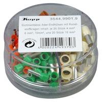 Kopp Aderendhülsen verzinnt, mit Kragen, Sortimentsbox, 4 - 16mm²