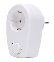 Kopp Schutzkontakt-Zwischenstecker mit Dimmfunktion
