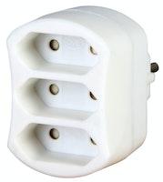 Kopp Steckdosen- 3-fach Adapter arktis-weiß