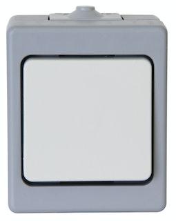 Kopp Taster AP-Feuchtraum STANDARD grau