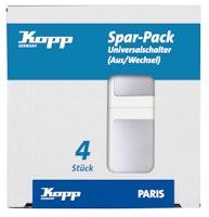 Kopp Universalschalter PARIS silber, Profi-Pack