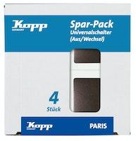 Kopp Universalschalter PARIS palisander-braun, PROFI-PACK