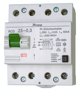Kopp Fehlerstrom-Schutzschalter 25A 4-polig