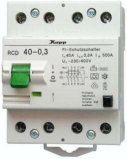 Kopp Fehlerstrom-Schutzschalter 40A