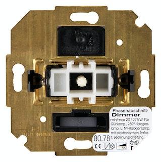 Kopp Dimmer -Sockel mit Wippen-Wechselschalter