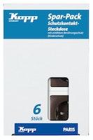 Kopp Steckdose braun - 920726019