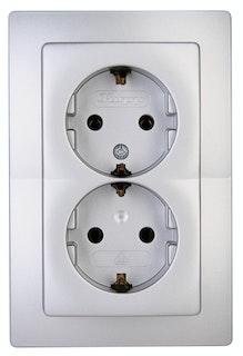 Kopp Steckdose silber - 941120089