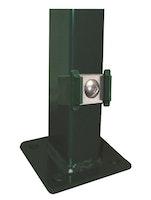Kraus DS Pfosten P 60x40 mm mit Klemmhalter + Edelstahlplättchen - zum Aufschrauben