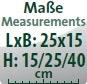 Maße Brunnenaufsatz (LxB/H): 25x15/15/25/40 cm