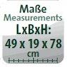 Maße (L/B/H): 49x19x78 cm