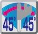 Neigung 45° links und rechts