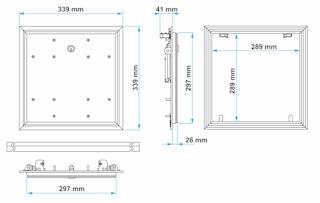 Marley Brandschutz Revisionsklappe Alumatic Safe F/EI30 versch. Größen