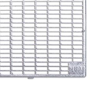 MEA Lichtschachtrost begehbar 80x40 cm - Maschenrost 30/10 mm