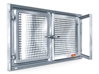 MEA Stahlkellerfenster MEALIT verzinkt Zweiflügelig - versch. Größen