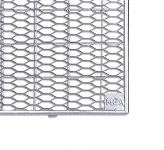 MEA PVC-Aufsatz MEAFLEX Gitterrost Streckmetall