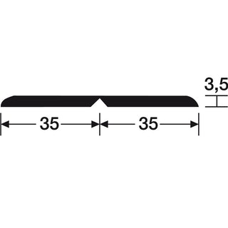 MeisterWerke Deckenleiste Fineline cappuccino Struktur 4018