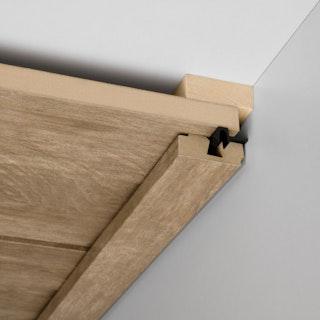 MeisterWerke Vierkant-Deckenabschlussleiste Akazie hell 4012-Holznachbildung