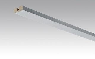 MeisterWerke Vierkant-Deckenabschlussleiste Edelstahl-Metallic 4079-Nachbildung