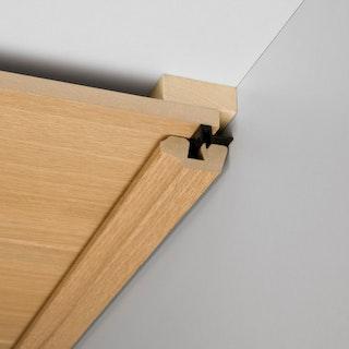 MeisterWerke Deckenabschlussleiste Eiche vintage weiß 4075-Holznachbildung
