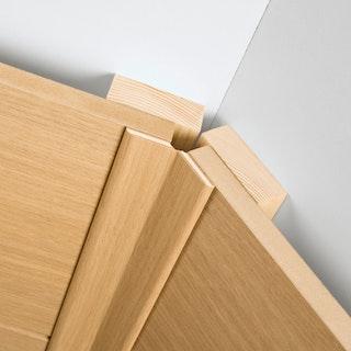 MeisterWerke Faltleiste groß Uni weiß glänzend DF 324-Dekor