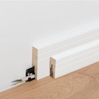 MeisterWerke Steckfußleiste 18 PK Uni weiß glänzend 324