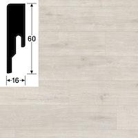 MeisterWerke Steckfußleiste Eiche arcticweiß 6995 - 20 PK