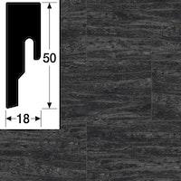 MeisterWerke Steckfußleiste Black Lava 7323 - 8 PK